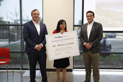 Jeremy Grey, vicepresidente ejecutivo de Hilco Redevelopment Partners; Monica Jaimes; y Roberto Perez, director ejecutivo de Hilco Redevelopment Partners (PRNewsfoto/Hilco Global)