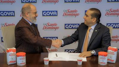 Joseph Pérez, Senior Vice President of Goya Foods and Manuel Pozo Perelló, Executive President of Induban