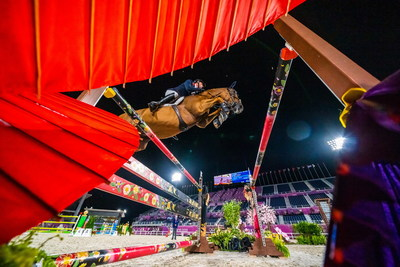Great Britain's Ben Maher was quickest through the finish with Explosion W in the Jumping qualifier at the Tokyo 2020 Olympic Games in Baji Koen. (FEI/Arnd Bronkhorst)